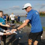 Wolontariusze na półmaratonie