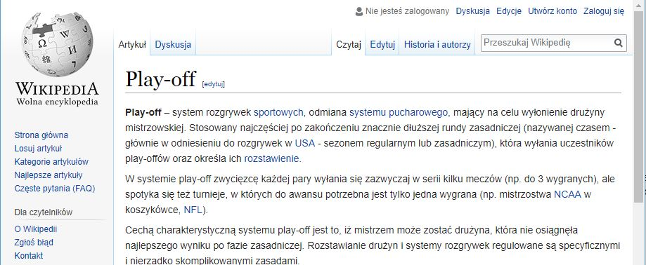 play-off za Wikipedią